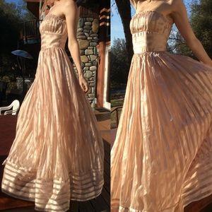 Stunning Betsy Johnson Champaign Stripe Ballgown
